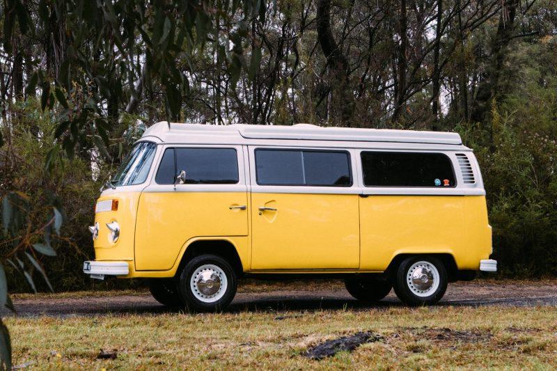 Front side of Kombi campervan