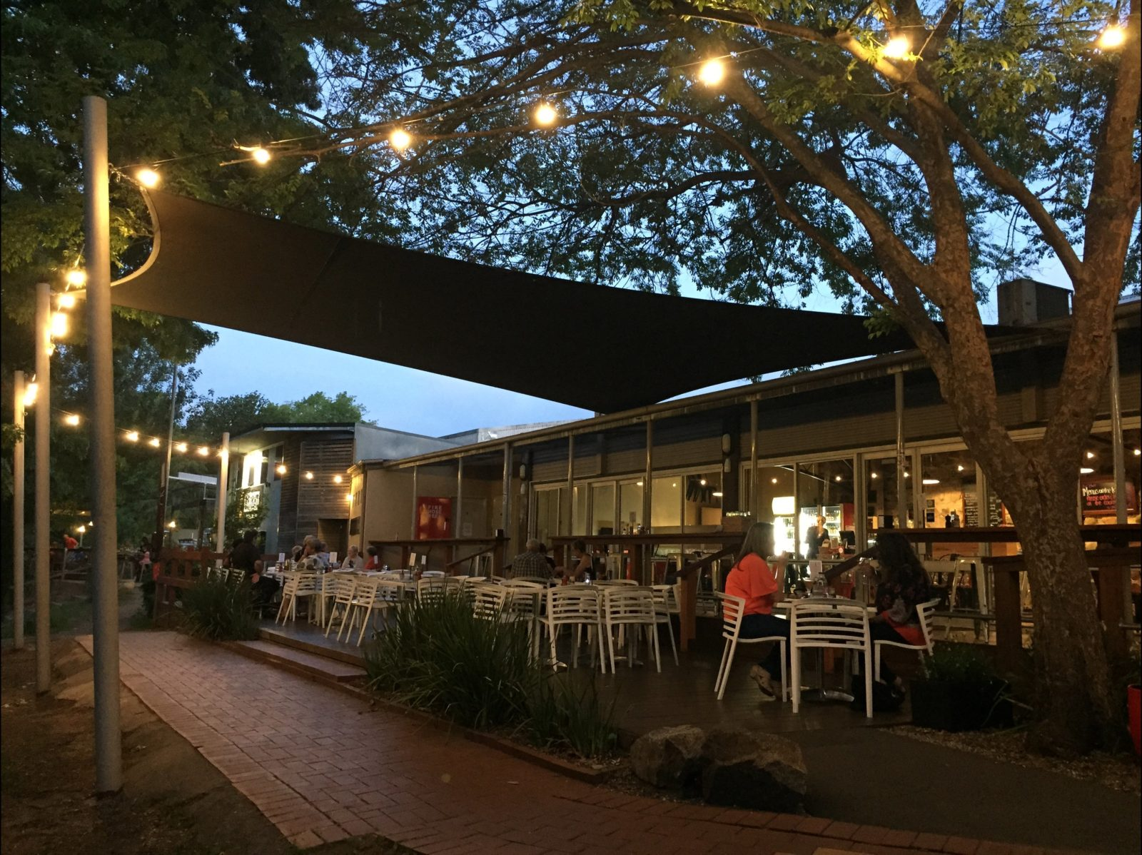 Summer evenings at the Riverdeck