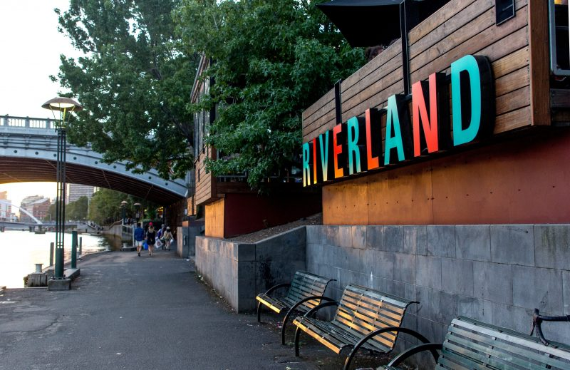 Enter Riverland Bar from the banks of the Yarra River