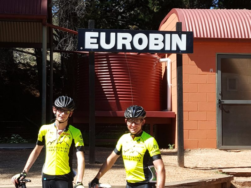 Murray to Mountains Rail Trail, Eurobin station. North East Victoria