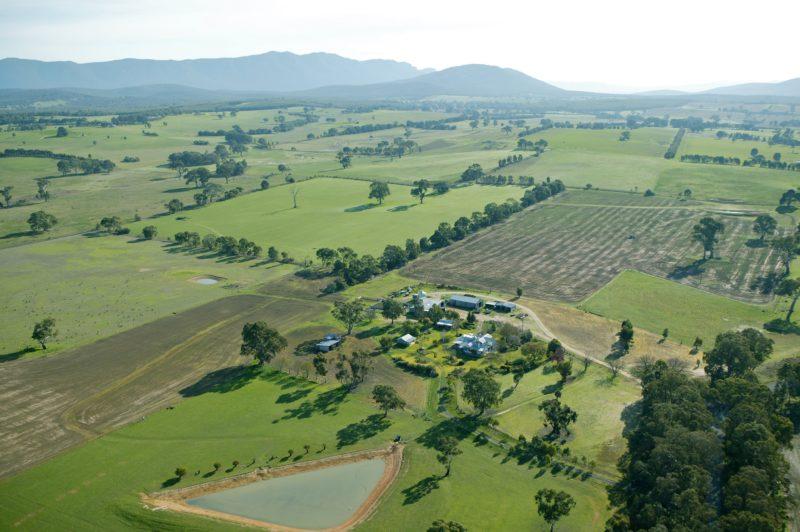 Aerial view of Ros McArthur Art Studio location
