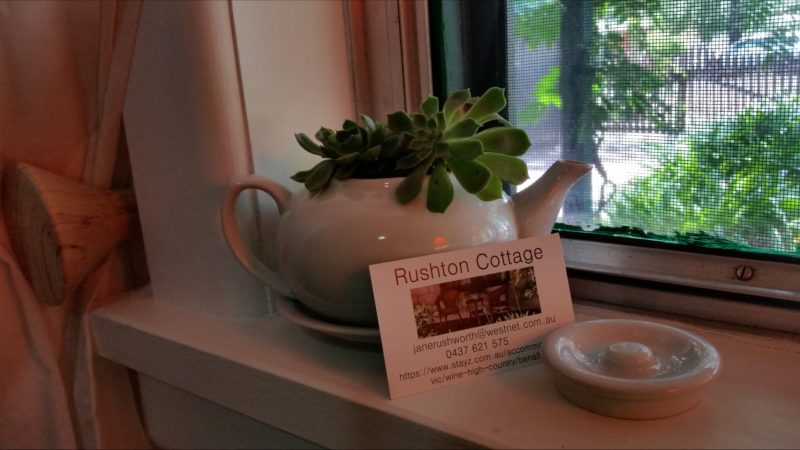 Rushton Cottage card and teapot