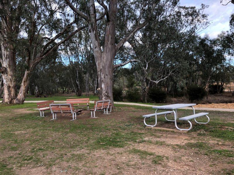 Fire Pit area at the Caravan Park