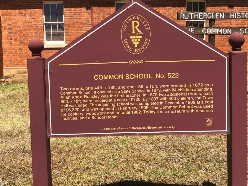 This sign talks about the history of the old school