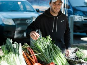 Selection of fruit and vegies you can buy at Rutherglen Farmers Market