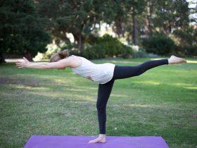 Emily Rose Yoga - park yoga warrior three