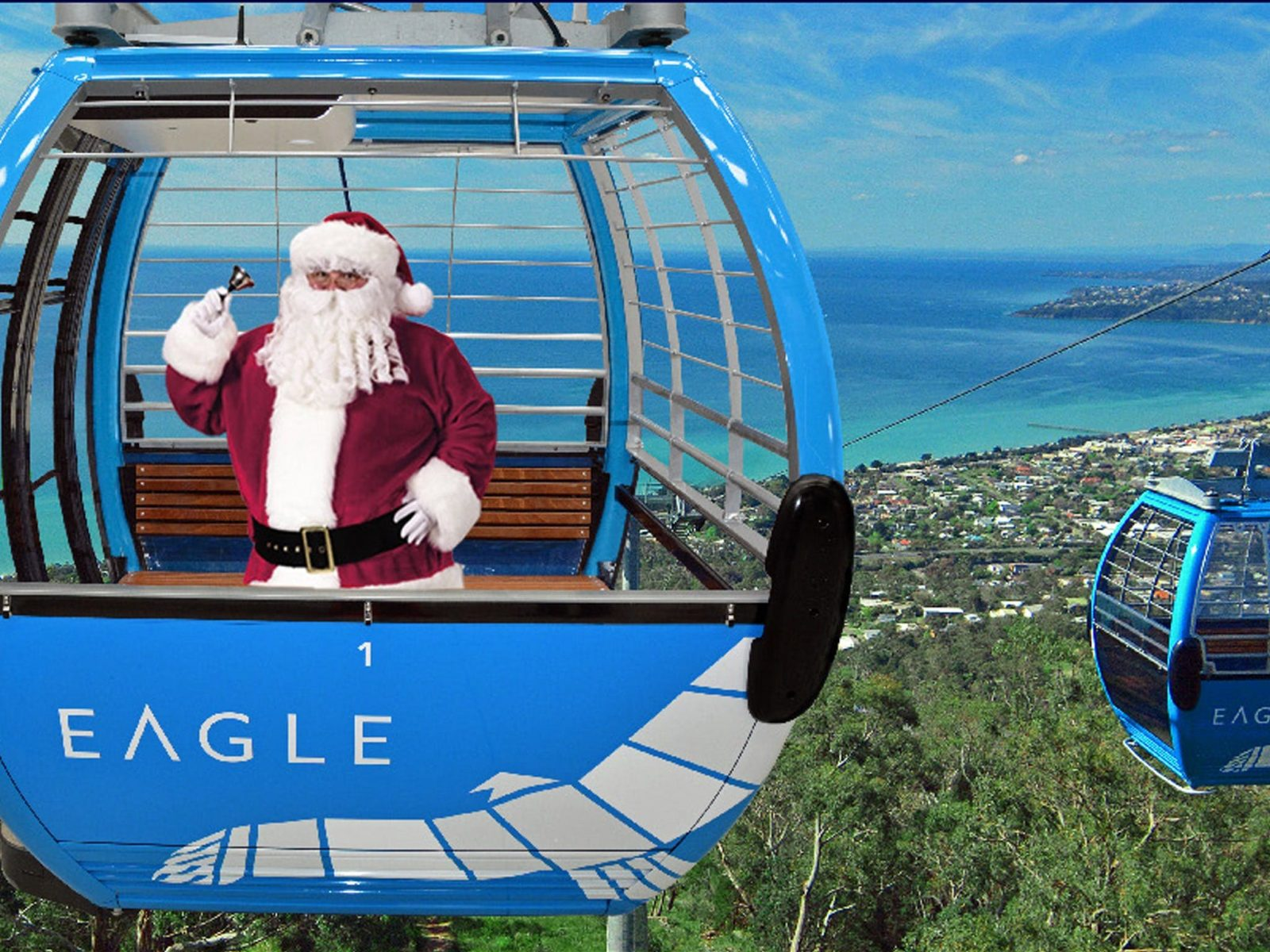 Santa in an Eagle Gondola