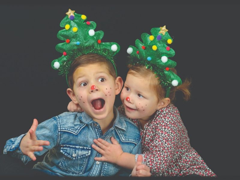 Photo booth at the Christmas Festival