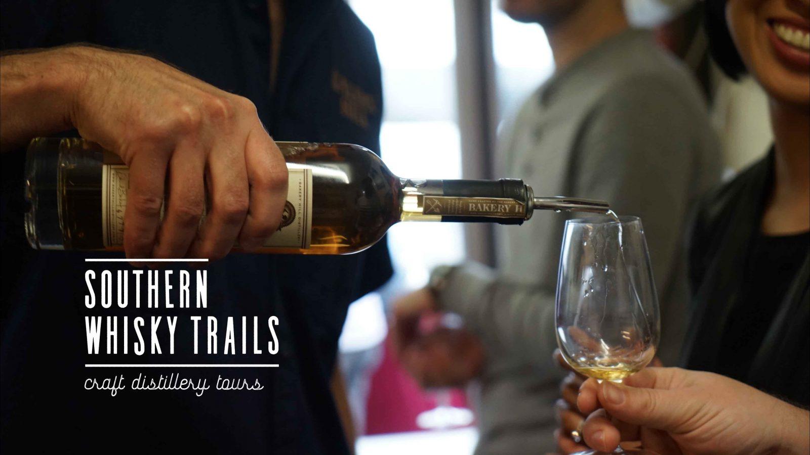 Whisky tasting at Bakery Hill distillery