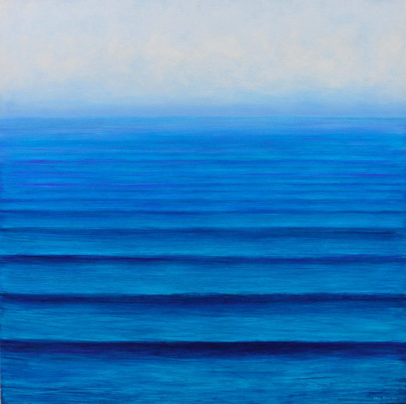 Metropolis gallery - Jane Flowers Southern Ocean' Oil on canvas 152 x 152cm