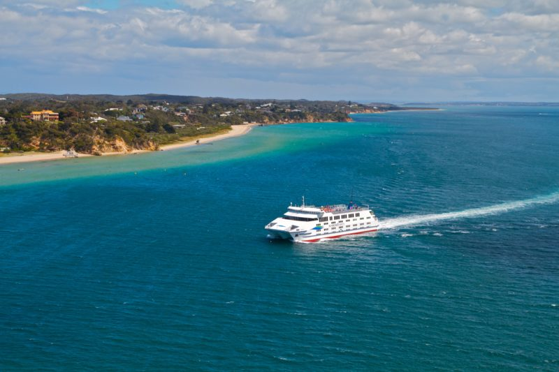 Searoad ferries cruising beautiful Port Phillip Bay