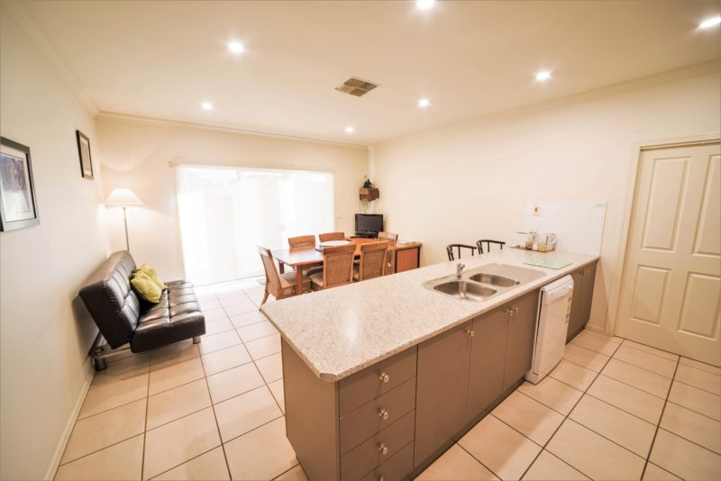 Kitchen and dining room with plenty of room to cook or relax and enjoy the sunset