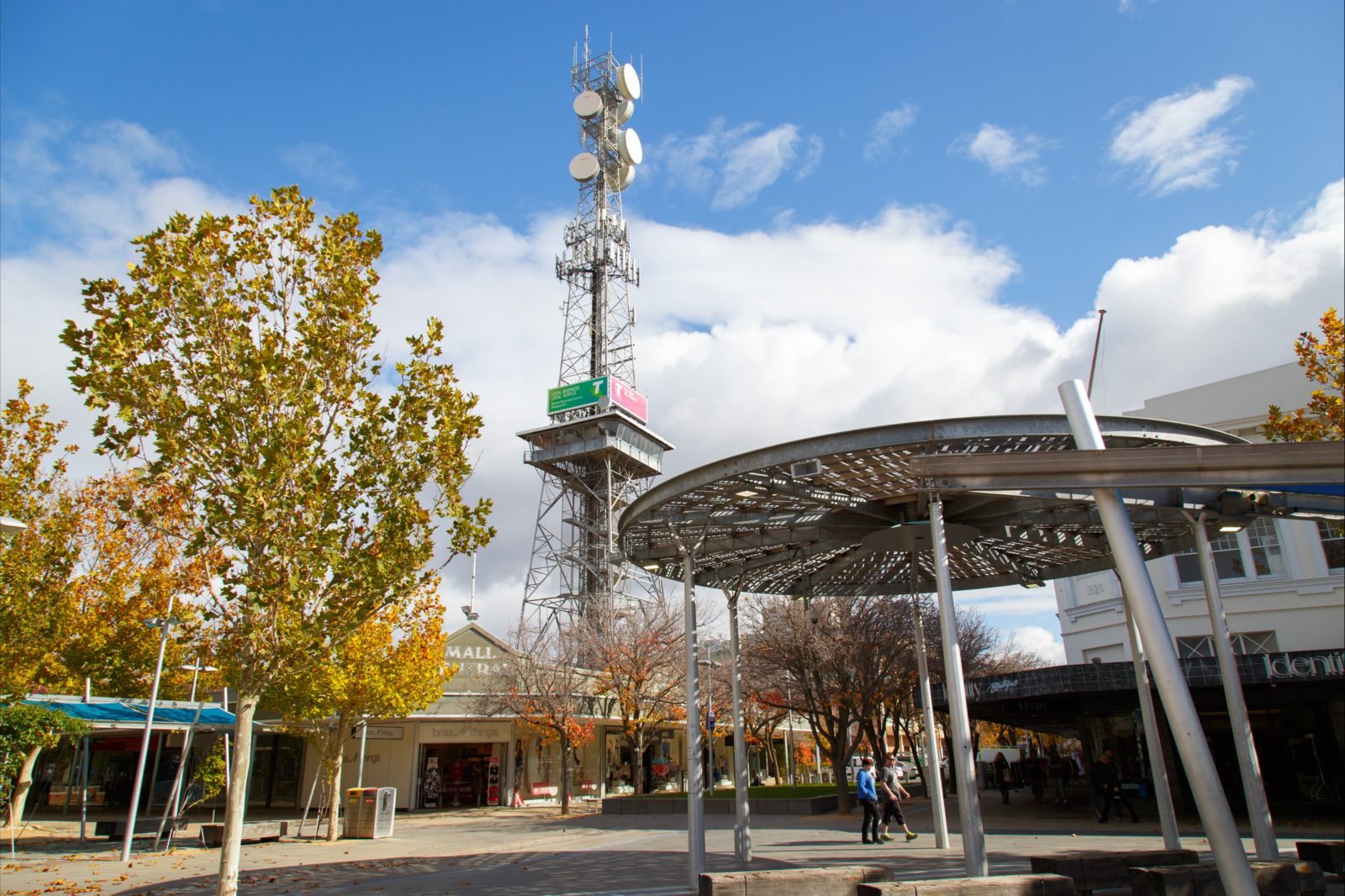 Shepparton Tower from Maude Street Mall