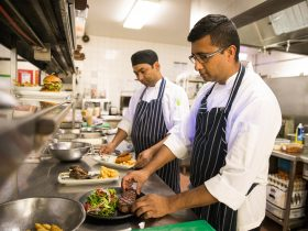 The team at Sirocco Restaurant make meals fresh.