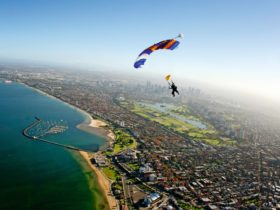 Freefall from up to 14,000ft above Melbourne