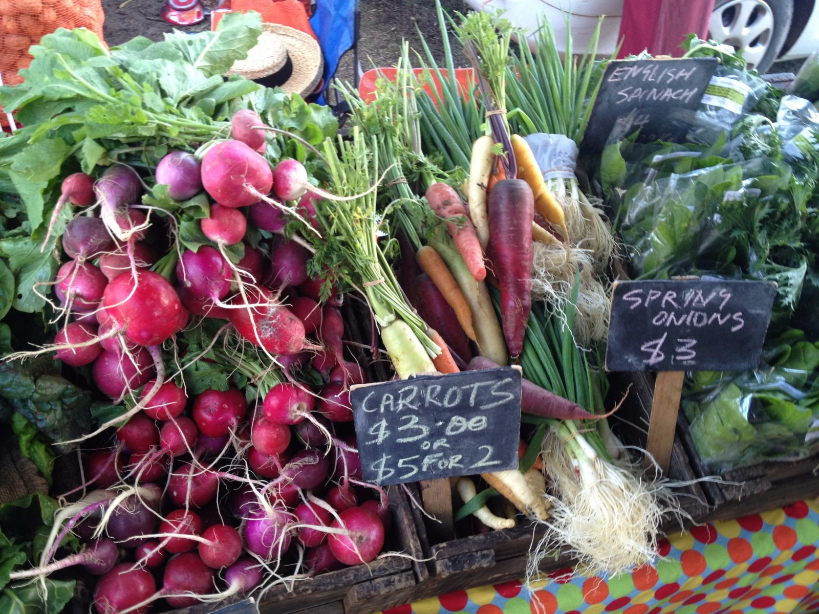 Fresh produce from South geelong farmers market