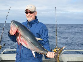 Happy Jack with a tuna off Port Fairy