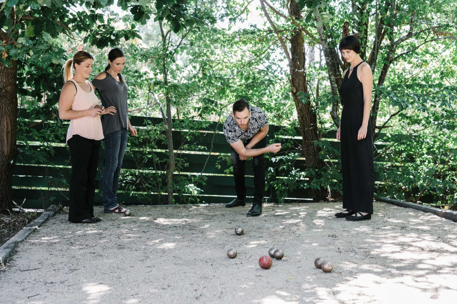 Sparkling Pinot and Petanque