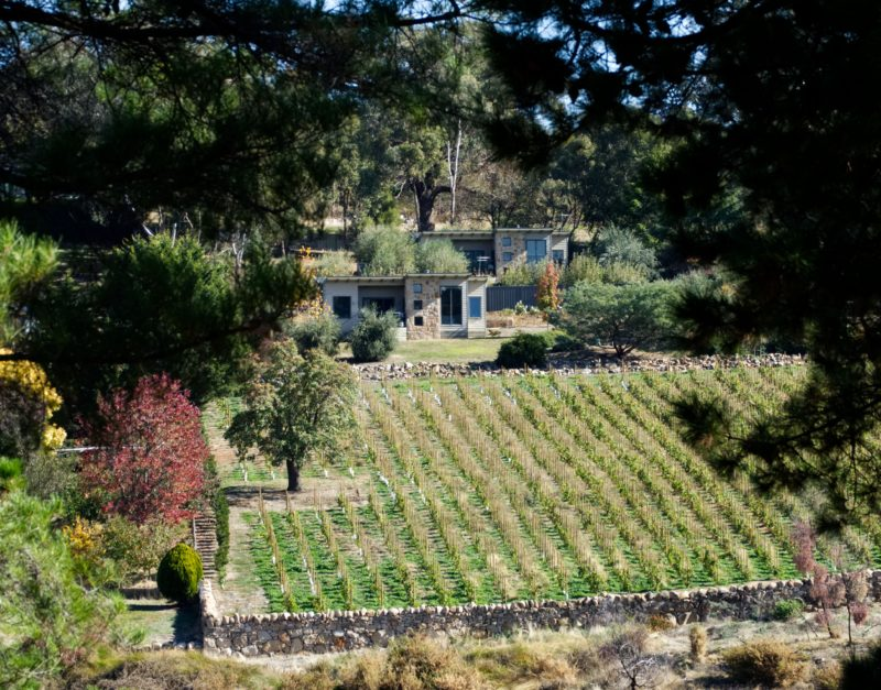 View of the villas from the Beechworth Gorge