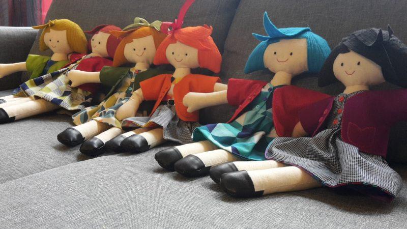 fabric hand made dolls