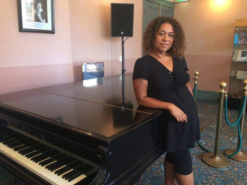 Deborah N at piano