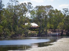 Tahbilk Cafe view from wetlands