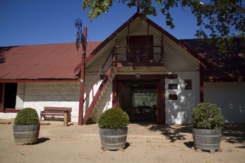 Entrance to original Winery building and Cellar Door tasting