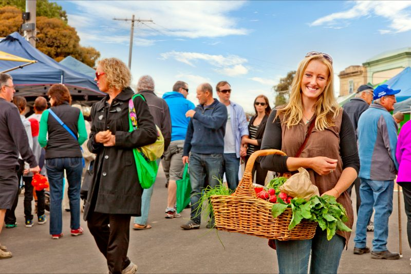 Over 80 stalls line the beautiful heritage streetscape in Talbot every month.
