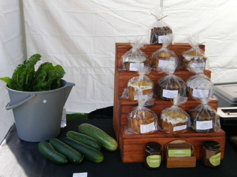 cakes and produce