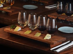 Wine and cheese tasting plate