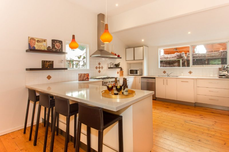 Open plan living and equipped kitchen