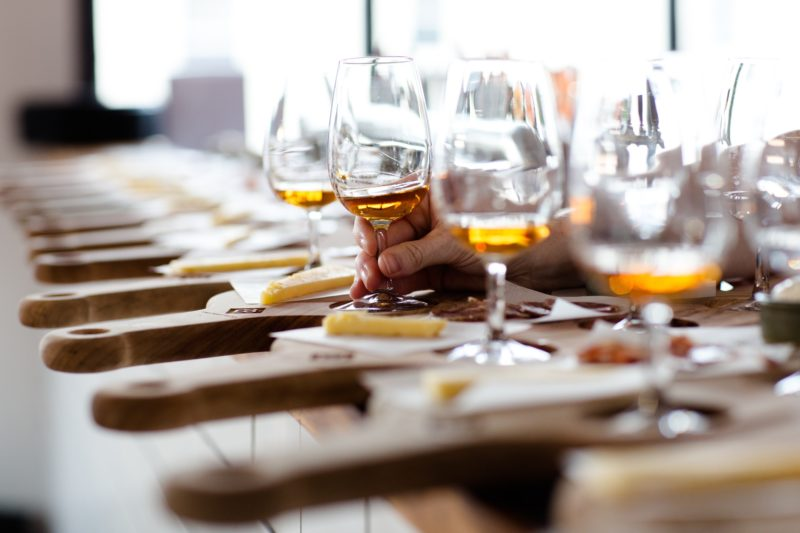 Beer, spirits & wine flights matched with cheese