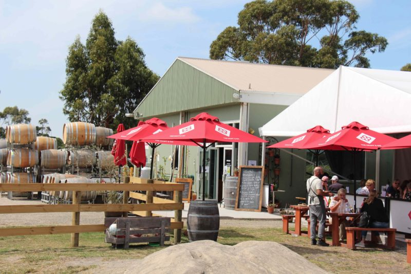 The winery, cellar door and cafe