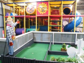Nine hole mini golf and large playground