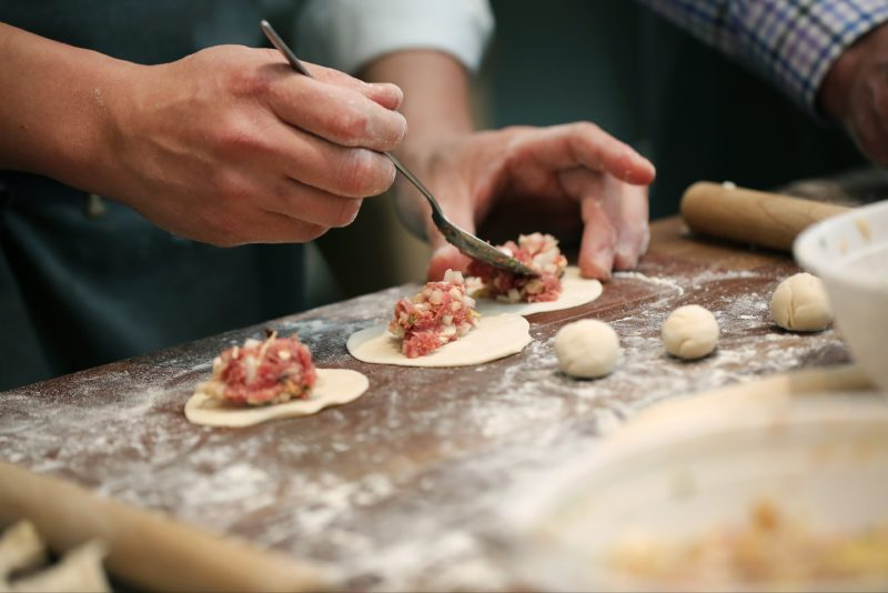Dumpling cooking class
