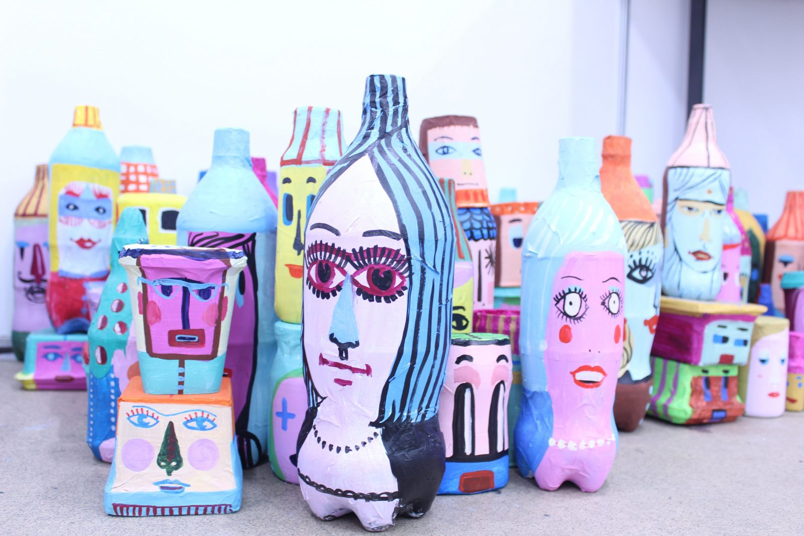 Christina Darras. Bottle People. Crafts Victoria - August Festival 2019.