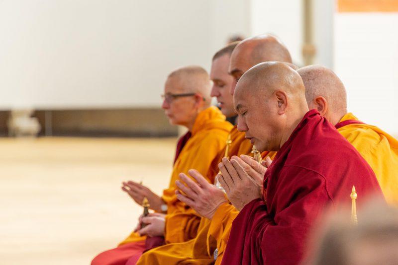 Monks doing blessings
