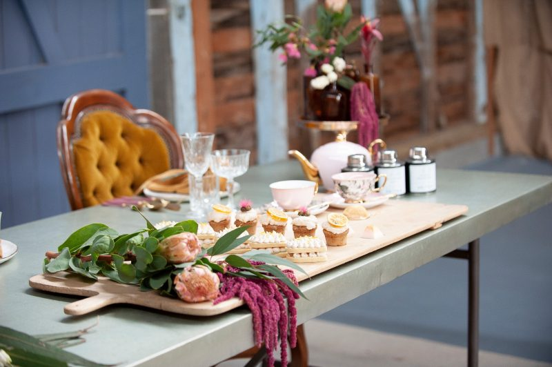 A rustic wedding High Tea