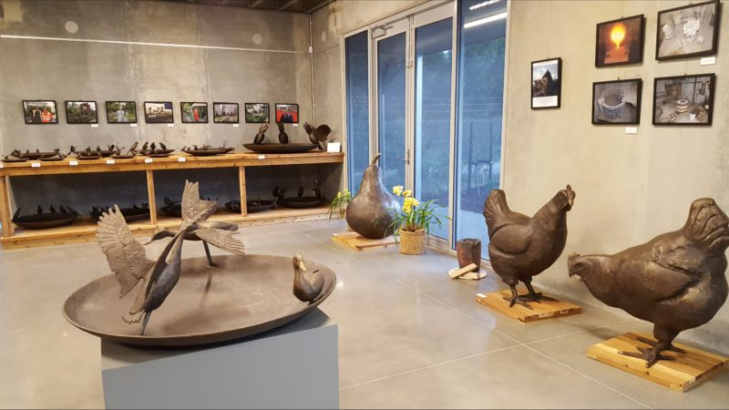 Willie Wildlife Sculptures bronze works on display downstairs at The Hive