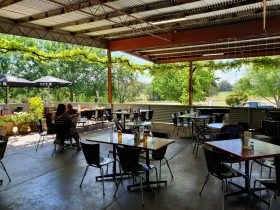 Plenty of shade and misters for the Summer our outdoor terrace is the perfect spot!