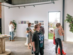 Exhibition gallery space for lease at The Nook Gallery & Studios, Mornington, Victoria.