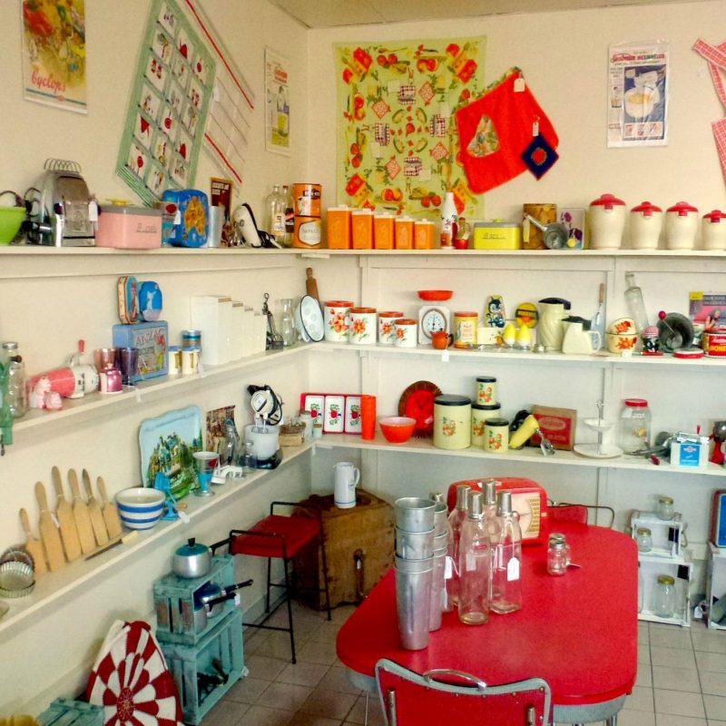 vintage kitchenalia display