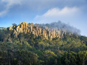 Hanging Rock in mist