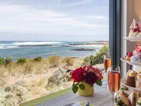 High Tea with a view of the Southern Ocean