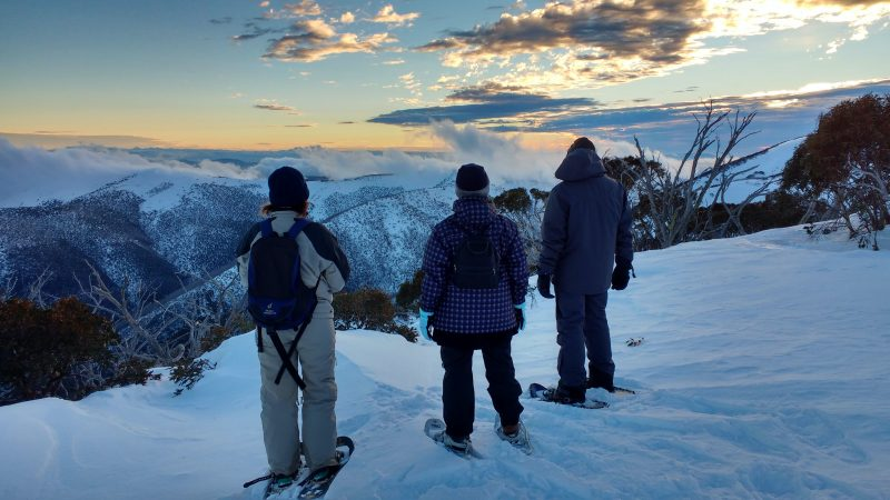 On top of the world, on snowshoes