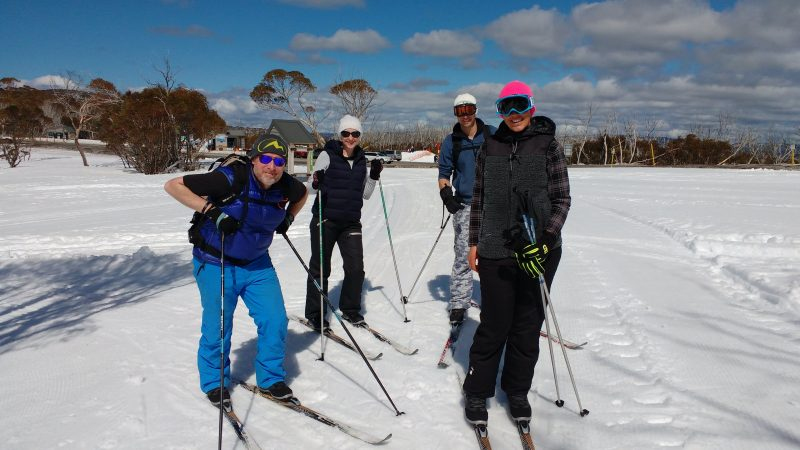 Cross country ski fun in the sun