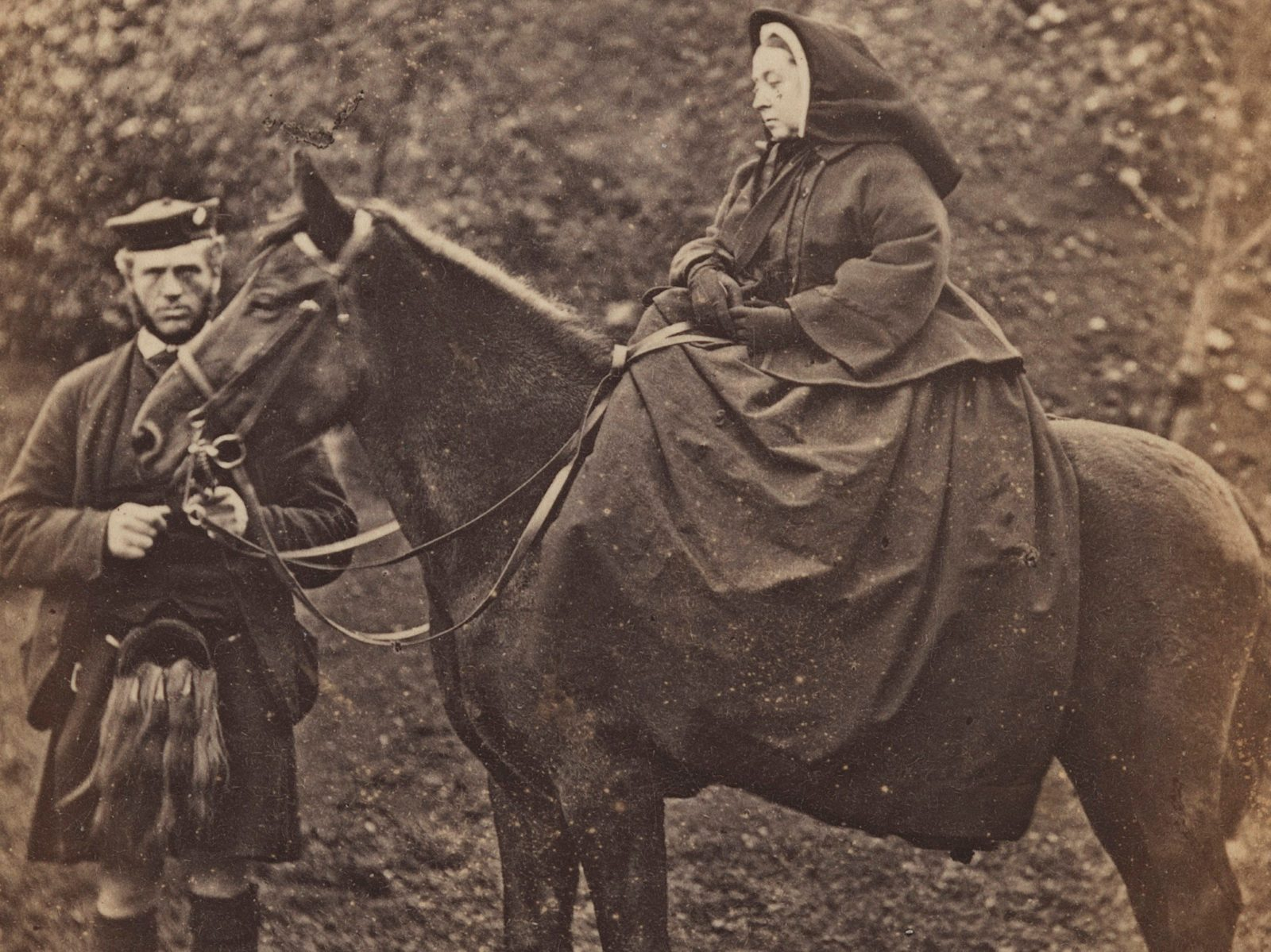 Queen Victoria with John Brown by George Washington Wilson, 1863 © National Portrait Gallery, London