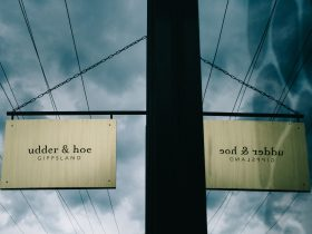 Sign at Udder & Hoe Loch