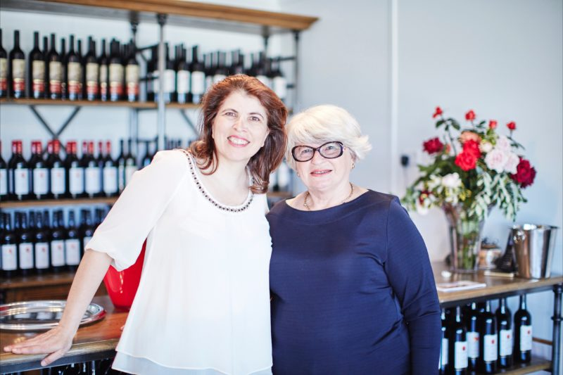 Viviana Ferrari and Kathy Bogdan at the cellardoor