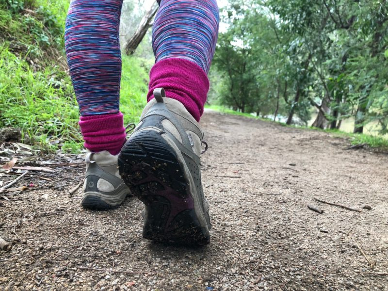 Walking down the trail